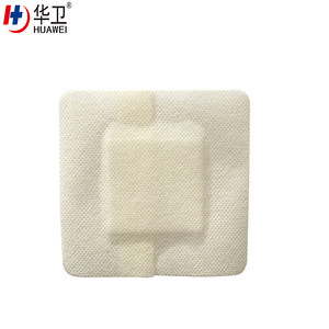 Nonwoven sterile antimicrobial medical adhesive wound dressing