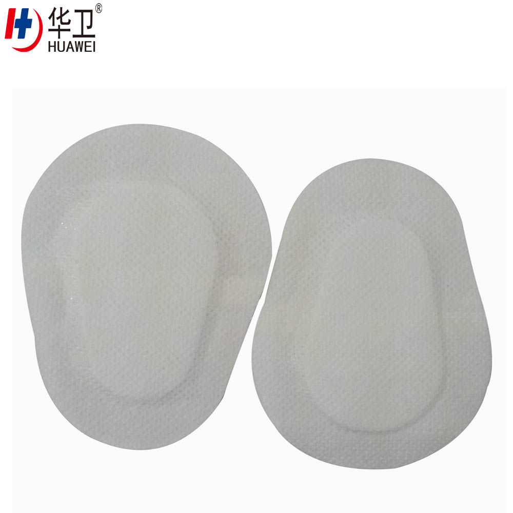 Nonwoven adhesive eye pad medical sterile