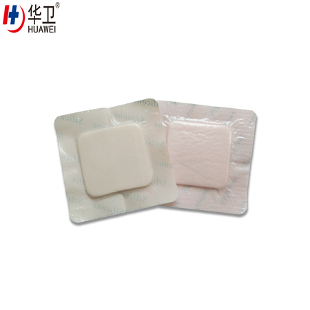 silicone adhesive hydrophilic foam dressing CE certified Advanced wound care dressing